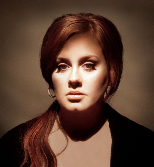Adele photographed by Rocky Schenck on the set of the music video Hometown Glory, conceived and directed by Rocky Schenck
