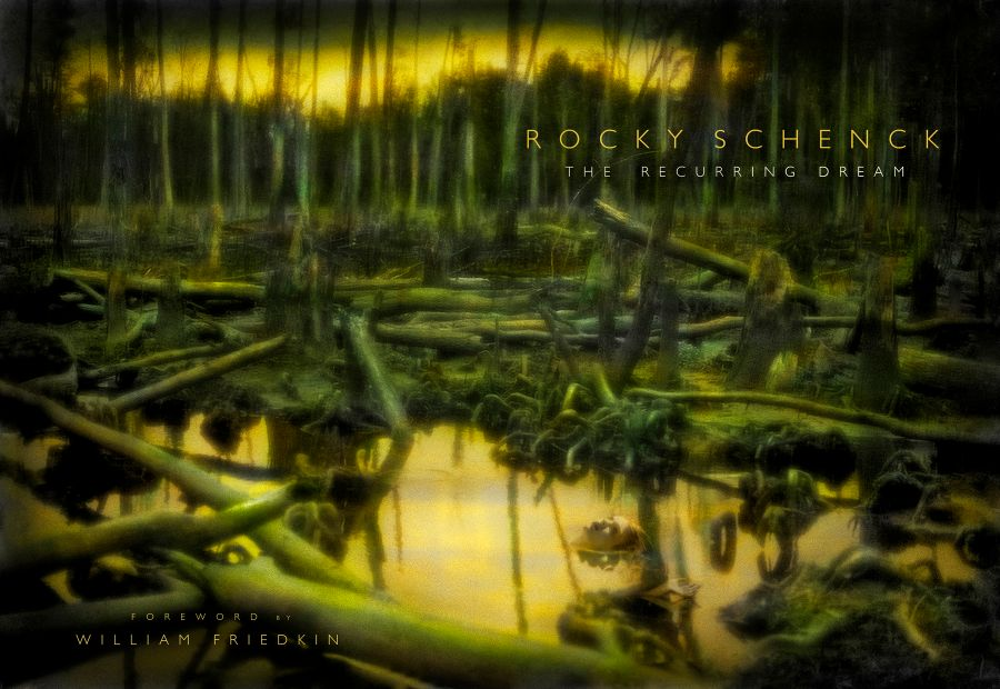 Rocky Schenck second book of photographs The Recurring Dream, with a foreword by William Friedkin.  Featuring his hand tinted black and white  and color photographs.  Landscape photography.