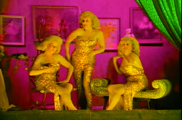 Faster Pussycat music video You're So Vain directed by Rocky Schenck, starring The Del Rubio Triplets.