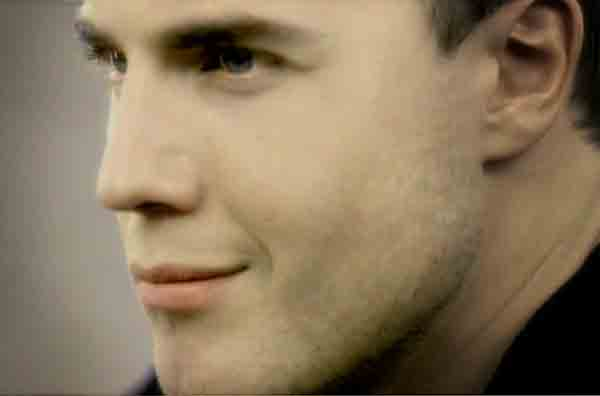 Gary Barlow in the music video Love Won't Wait, directed by Rocky Schenck
